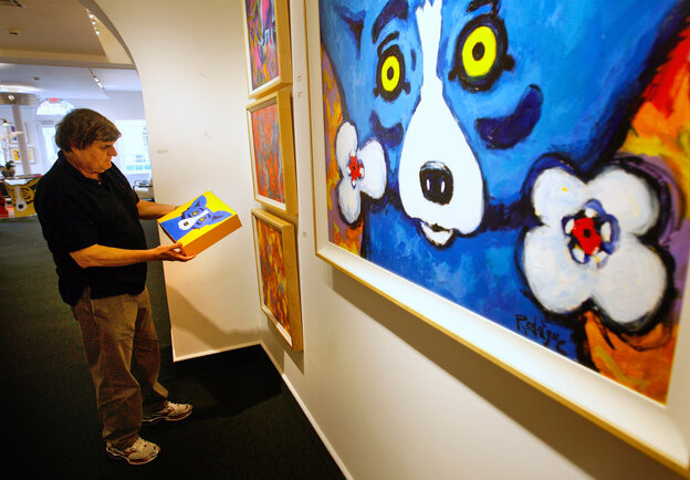 Artist George Rodrigue l