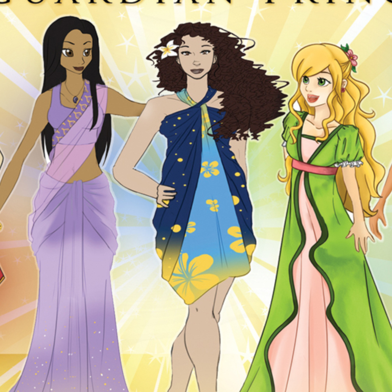 The Guardian Princesses, created by University of California, Riverside, professor Setsu Shigematsu, are a multi-ethnic group of heroines who each protect a different aspect of nature.