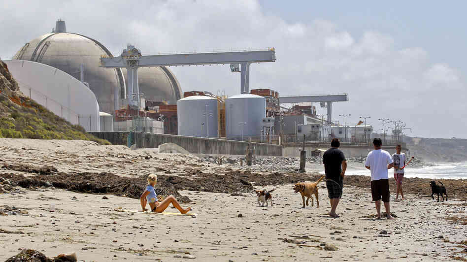 Southern California's San Onofre Nuclear Generating Station, shown here in April 2012, was closed after small radiation leaks.