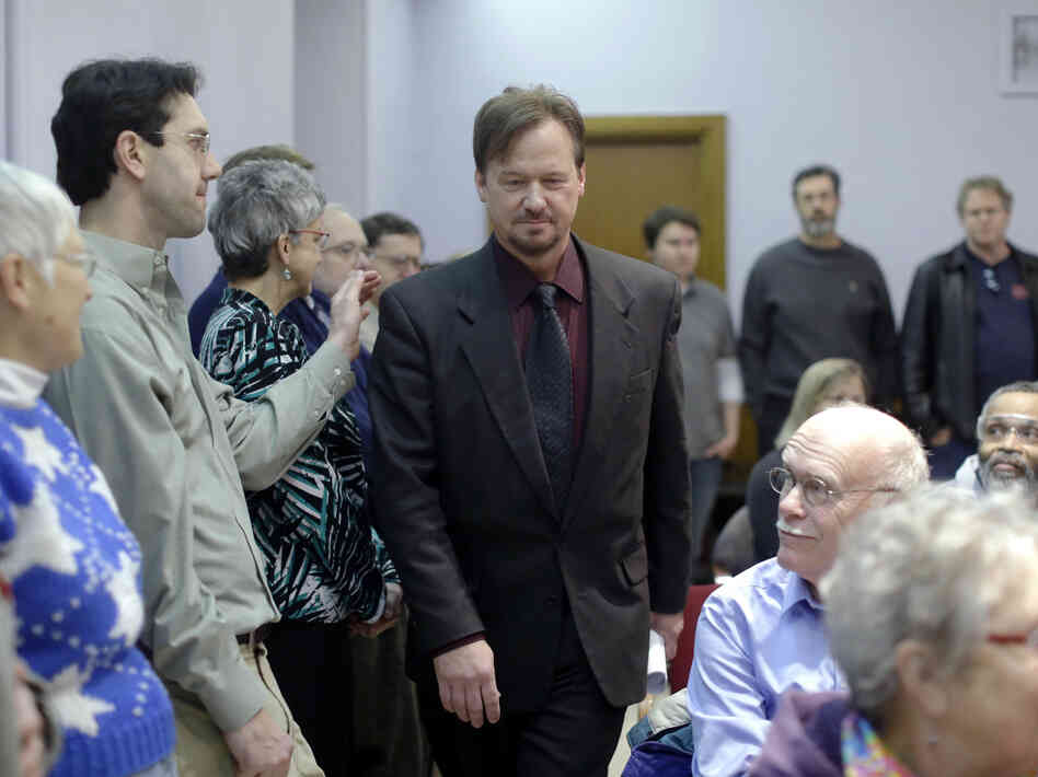 The Rev. Frank Schaefer, a United Methodist clergyman convicted of breaking church law for officiating at his son's same-sex wedding, ent