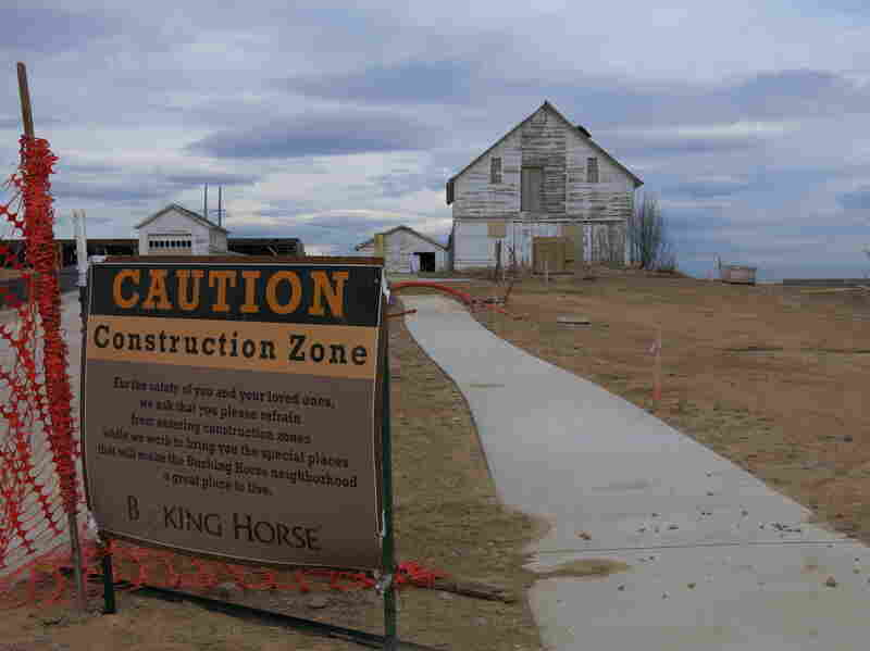 The Bucking Horse subdivision in Fort Collins, Colo., will include a working CSA farm, complete with historic barn, farm house and chicken coop.