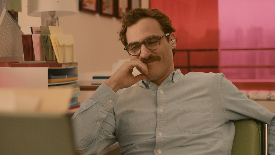 Joaquin Phoenix plays a man in love with an operating system in director Spike Jonze's latest film, <em>Her</em>.