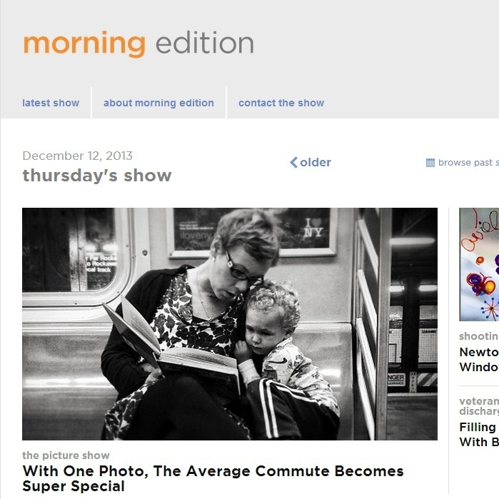 The new Morning Edition digital home.