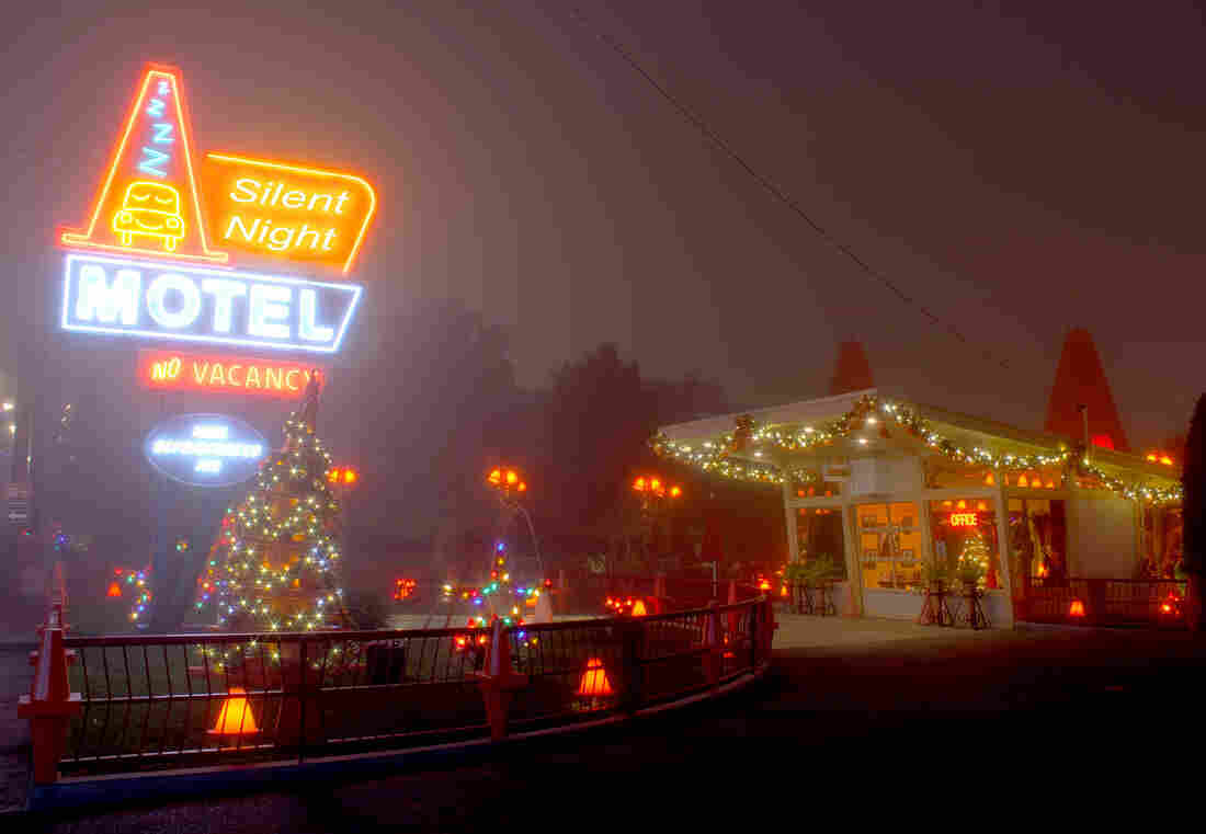 All Songs Considered hosts Bob Boilen and Robin Hilton set out on a road trip to find the true spirit of the holiday season. Along the way they stop at the Silent Night Motel, where they meet Wayne Coyne of The Flaming Lips, St. Vincent (Annie Clark), Josh Ritter, and more.