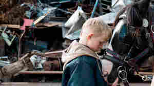 Living in poverty and expelled from school, Arbor (Conner Chapman) turns to collecting scrap metal with a cart and horse in The Selfish Giant.