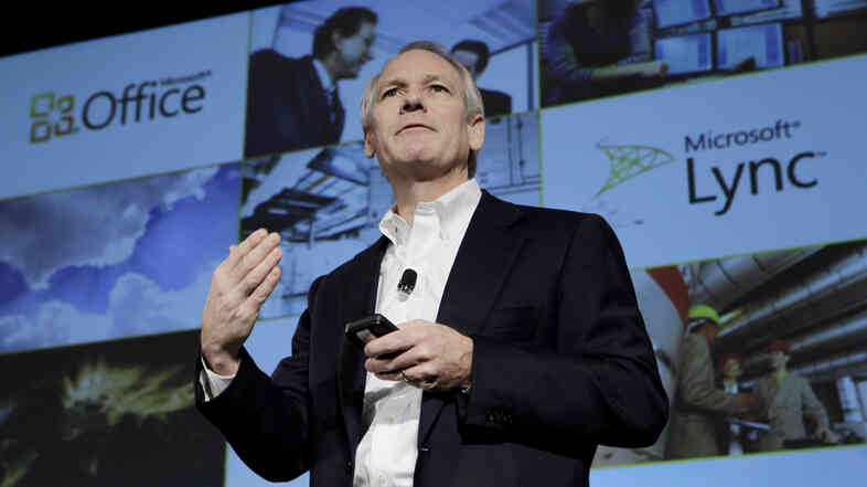 Kurt DelBene, former president of the Microsoft Office Division, talks about Microsoft Office 365 at a news conference in San Francisco, in 2010.