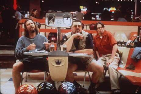 "Jeff Bridges (from left), John Goodman and Steve Buscemi starred in the Coen brothers' 1998 film The Big Lebowski. It didn't do particularly well in the theaters, but on the home movie market, ""it became some sort of cult thing,"" says Joel Coen. ""How do you explain that? I have no idea."""