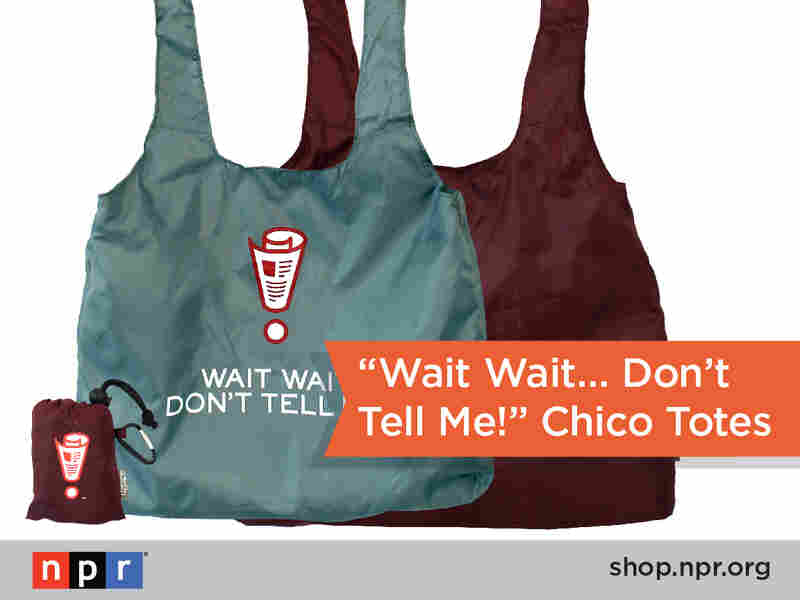 Caution: purchasing this Wait Wait... Don't Tell Me! reusable Chico Bag may lead to fun conversations with strangers: http://n.pr/19CEbJ6