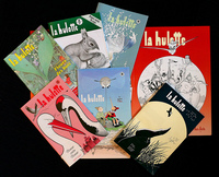 Pierre Deom has been writing and illustrating La Hulotte since 1972. He released his 100th issue (lower right) in November.