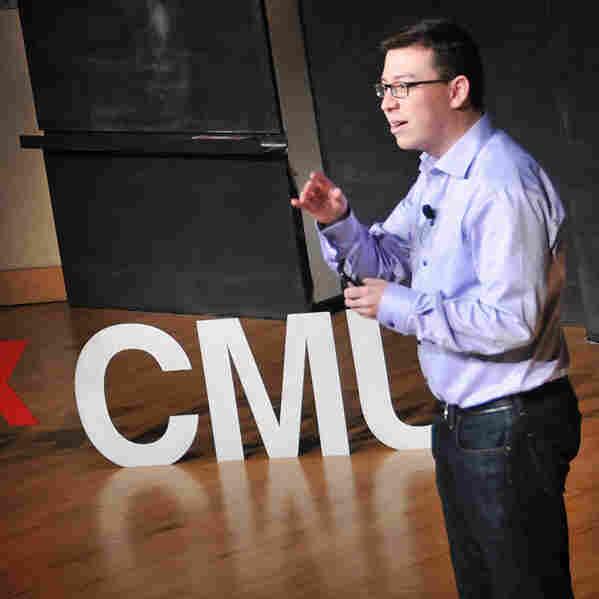 Luis von Ahn speaking at TEDxCMU