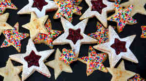 An assortment of star-shaped cookies