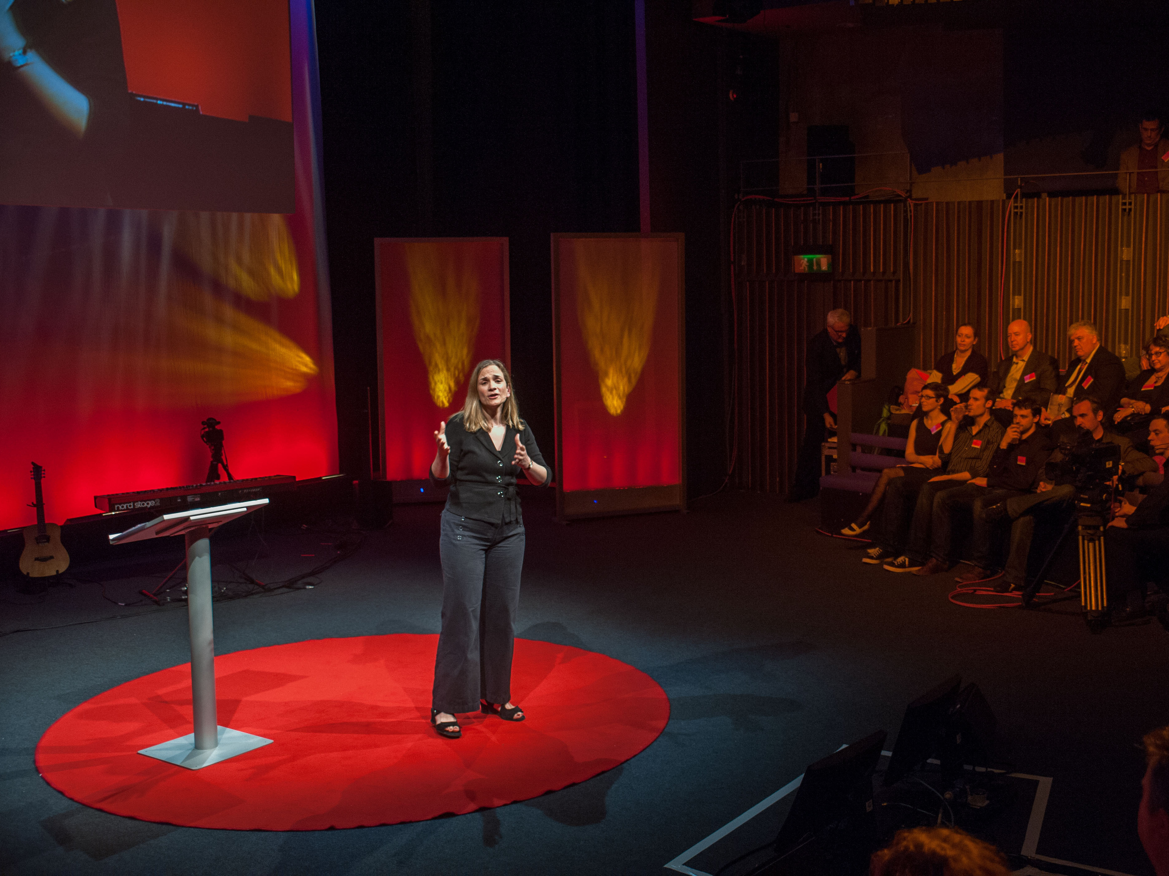 Author Tracy Chevalier speaking at the TED Salon in 2012.