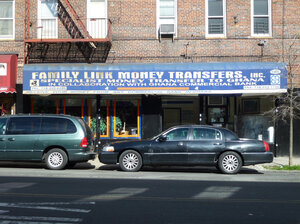Money is exchanged throughout the world at places like this one in the Bronx.