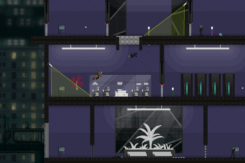 Gunpoint is a stealth puzzle platformer that blew me away with its clever style and witty writing.