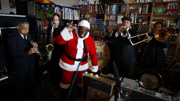Preservation Hall Jazz Band performs at the Tiny Desk on Dec. 3, 2013. (John W. Poole)