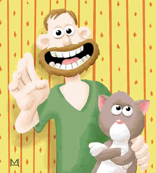 Mike and Ella as Wallace and Gromit.