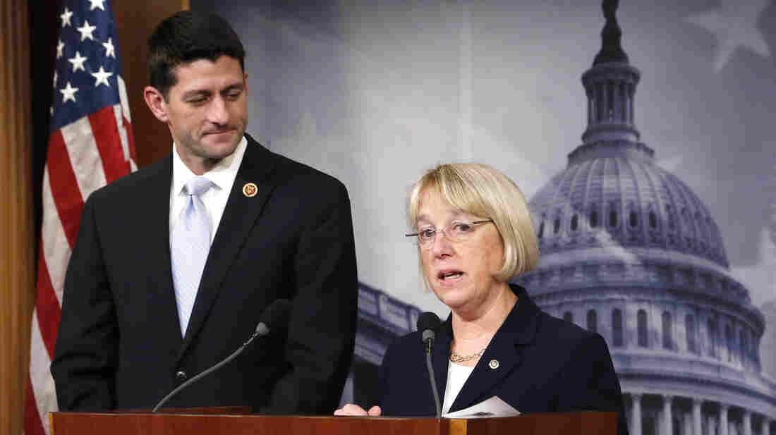 Senate Budget Committee Chairman Patty Murray, D-Wash., and House Budget Committee Chairman Paul Ryan, R-Wis., unveil a budget deal De