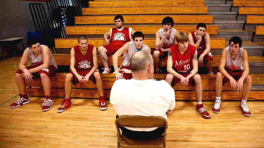The Medora Hornets, here with assistant coach Rudie Crain, are the centerpiece of the documentary Medora, from directors Davy Rothbart and Andrew Cohn.