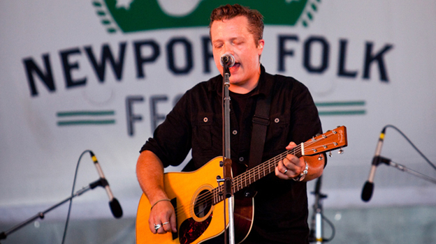 Jason Isbell performs at the 2013 Newport Folk Festival. (Meagan Beauchemin for NPR)