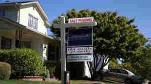 """A """"sale pending"""" sign in front of a home in San Anselmo, Calif., earlier this year."""