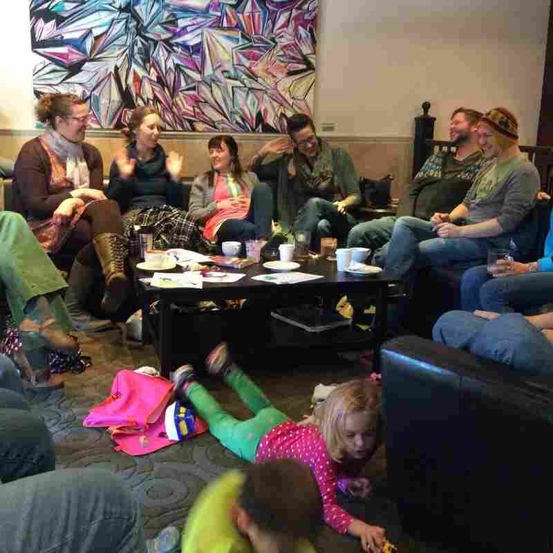 """Members of the church meet at Denver coffeehouses during the week for what they call """"office hours"""" --€"""" informal and often highly irreverent chats."""