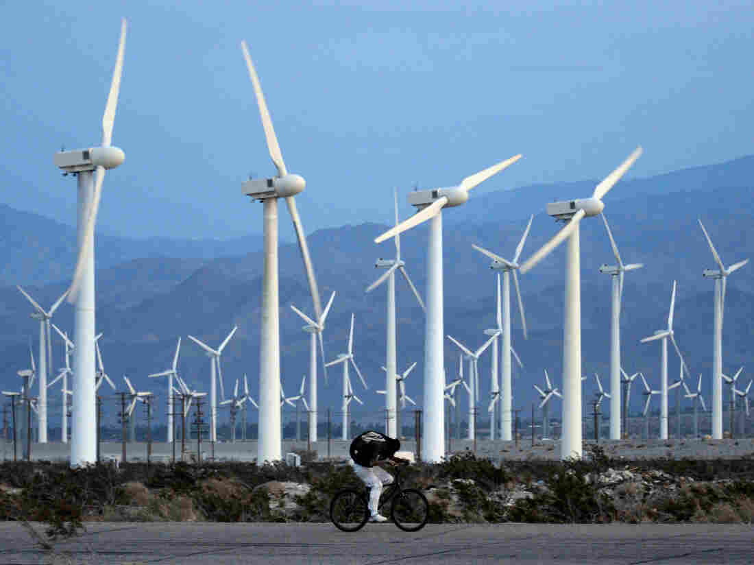 Strong gusts in Palm Springs, Calif., generate plenty of energy, thanks to turbine farms. But being able to store all of that energy is just as important.