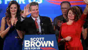 Protesters Greet Scott Brown At New Hampshire GOP Event