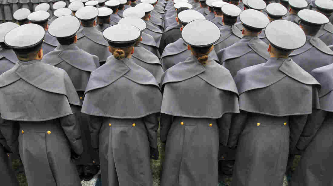 Cadets from the United States Military Academy at the 2012 Army-Navy football game.