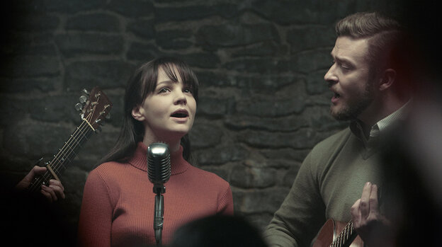 Carey Mulligan (left) and Justin Timberlake in a scene from the upcoming Coen Brothers film Inside Llewyn Davis.