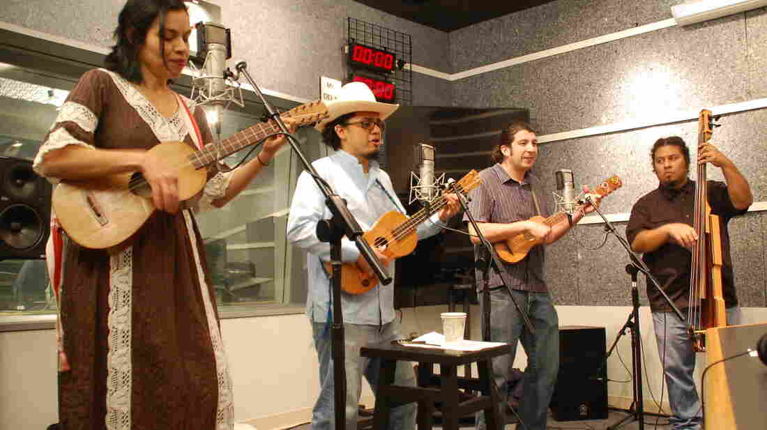 Cambalache performs in the studio at NPR West in Culver City, Calif.