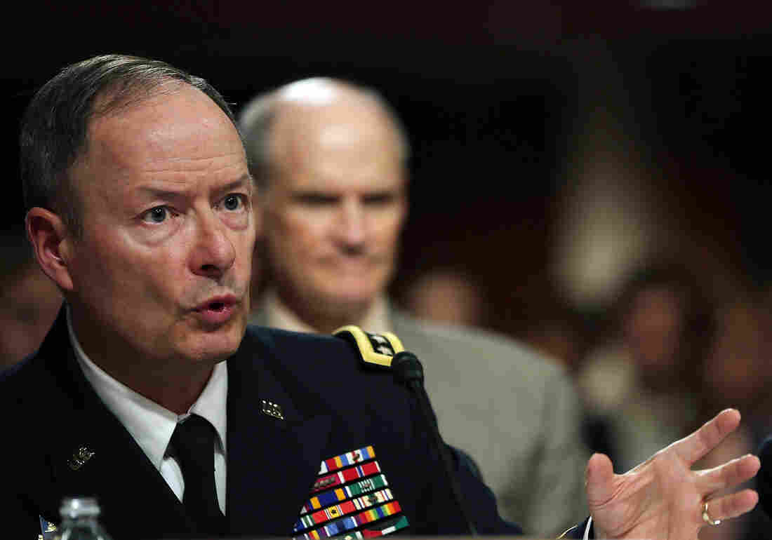 U.S. Army Gen. Keith Alexander, commander of the U.S. Cyber Command, director of the National Security Agency (NSA), testifies during a Senate Appropriations Committee hearing on Capitol Hill, in June.