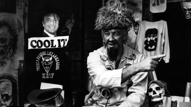 """Ernie """"Ghoulardi"""" Anderson on the set of his show at WJW-TV."""