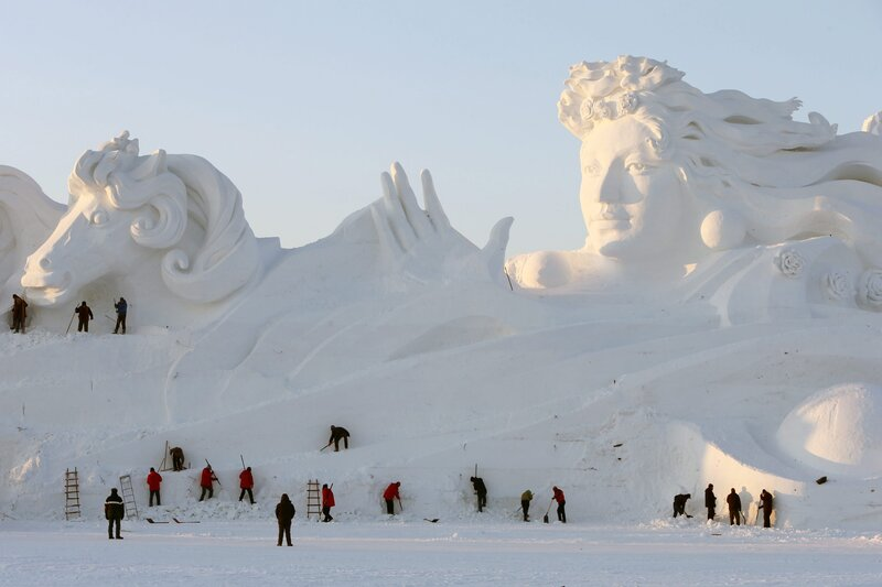 Something Cool Photos Of Huge Snow Sculptures In China The Two Way Npr