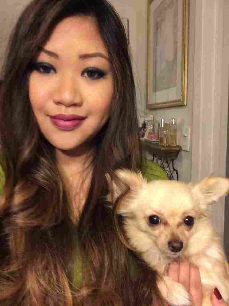 Rebecca Wong and her dog, Nahla