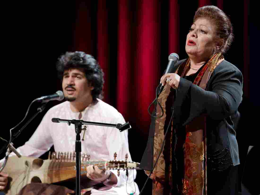 Rubab master Homayoun Sakhi and legendary Afghan singer Mahwash perform together as members of the group Voices of Afghanistan.