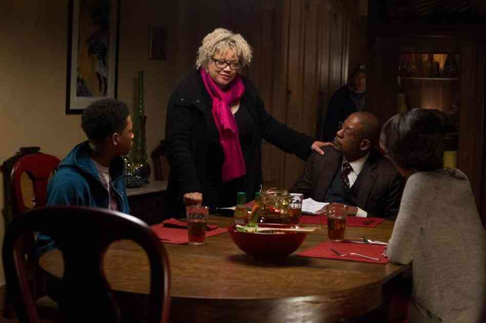 Kasi Lemmons directs a scene for Black Nativity, one of two films this year starring black actors by a female director.