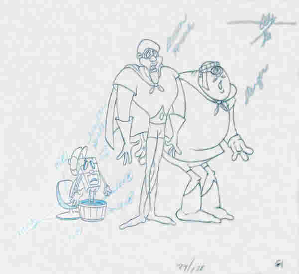 An original production drawing for the Brown Hornet, a character from Fat Albert and the Cosby Kids.