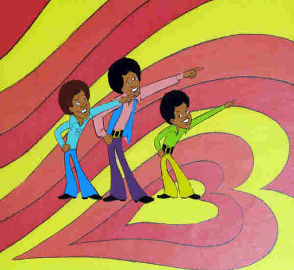 An original production cel for The Jackson 5ive, which aired from 1971 to 1973.
