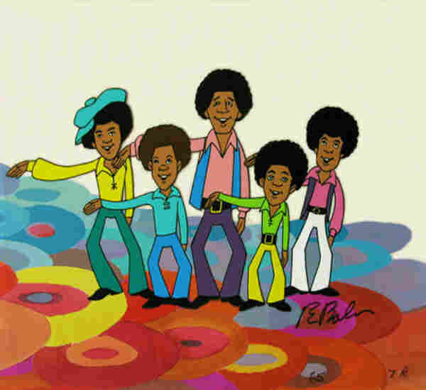 An original production cel for The Jackson 5ive.