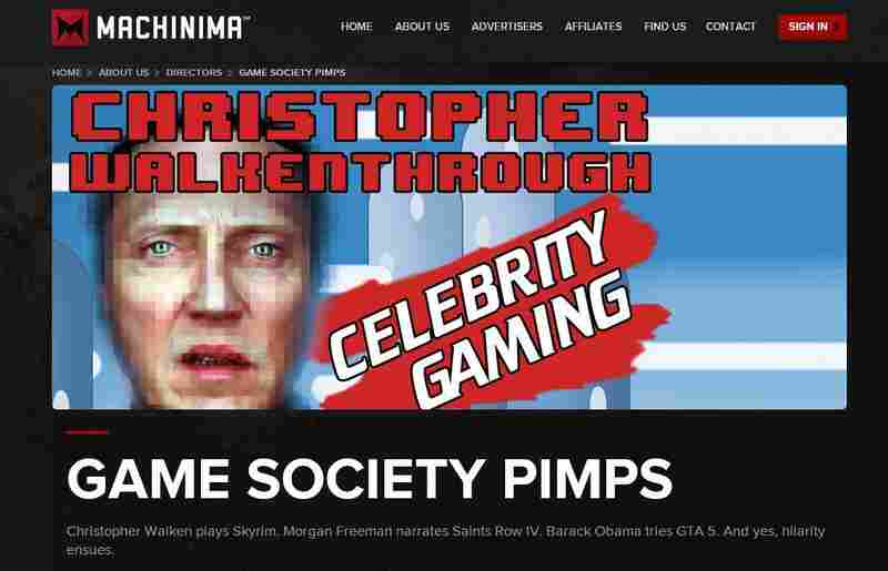 One of Machinima's signature offerings is a series called Christopher Walkenthrough, in which creator Jason Stephens, in character as actor Christopher Walken, navigates his way through popular video games. You kind of have to see it to understand.