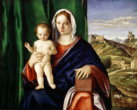 This piece, from the workshop of Giovanni Bellini, is valued at $4-$10 million.Madonna and Child, Giovanni Bellini, 1508, oil on panel.