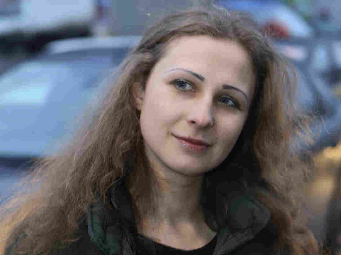 Maria Alyokhina, after her release from prison on Monday in Nizhny Novgorod, Russia.