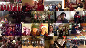 Some of the many video submissions for NPR's Deck the Halls singalong.