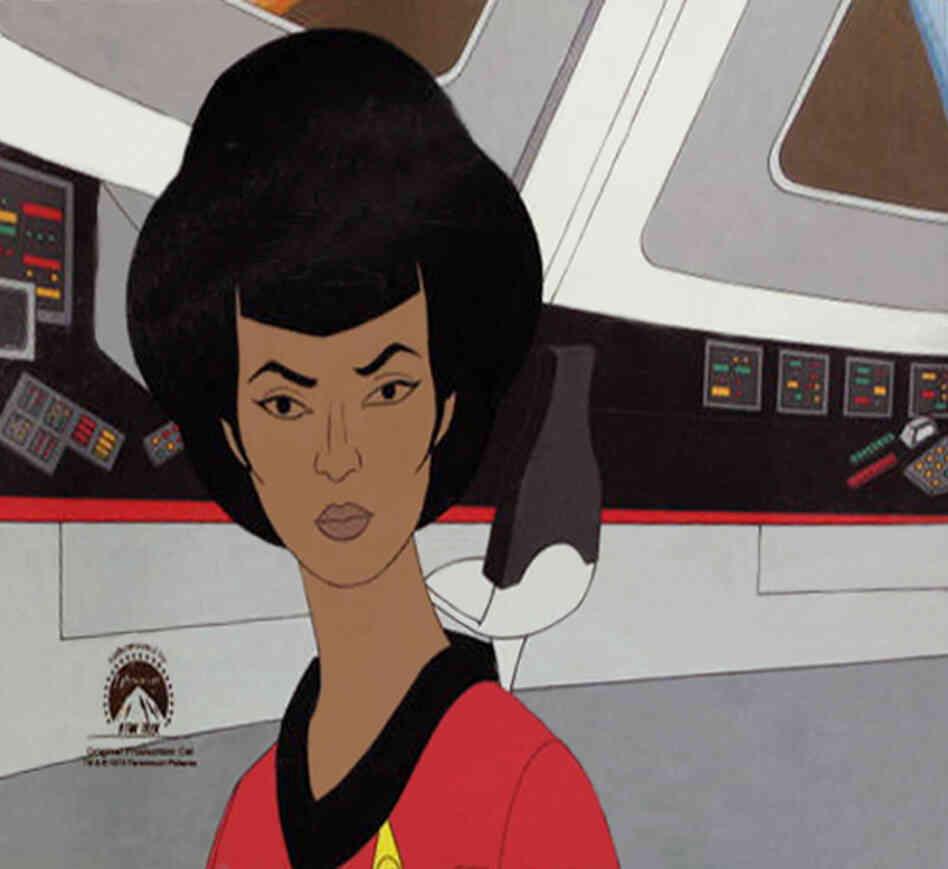 An original production cel for Lt. Uhura of Star Trek.