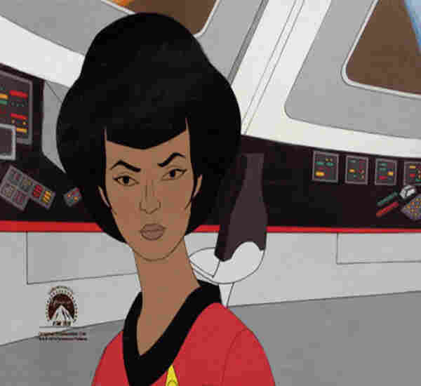 An original production cel for Lt. Uhura of Star Trek.