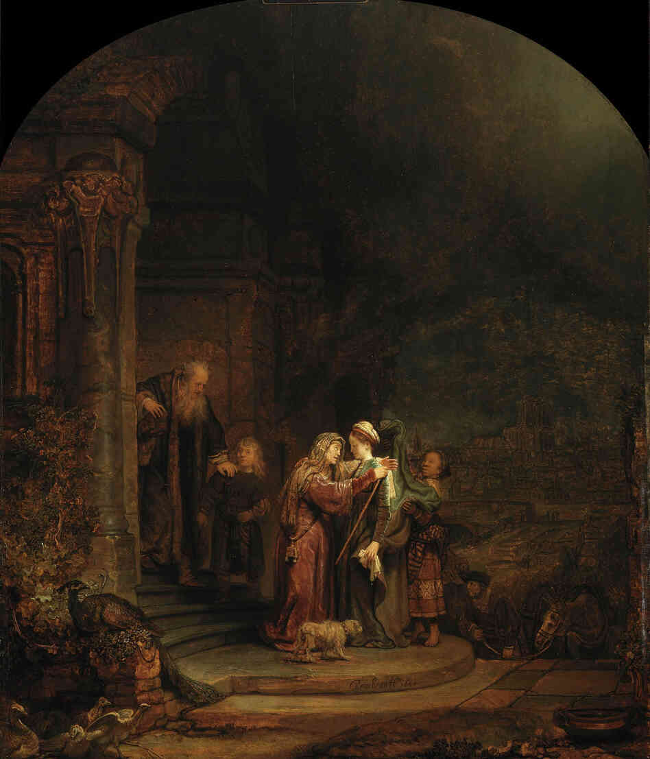 Christie's appraised 5 percent of the Detroit Institute of Arts' collection at $  454-$  867 million. They estimated that this piece alone would fetch $  90 million: The Visitation, Rembrandt van Rijn, 1640, oil on oak panel.