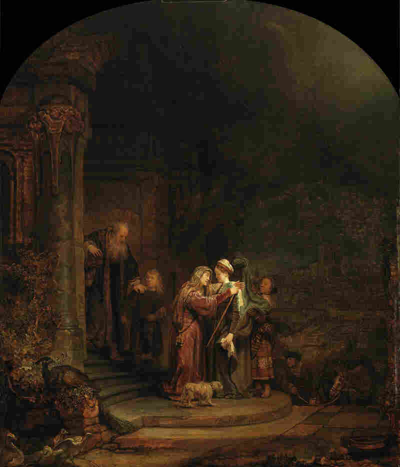 Christie's appraised 5 percent of the Detroit Institute of Arts' collection at $454-$867 million. They estimated that this piece alone would fetch $90 million: The Visitation, Rembrandt van Rijn, 1640, oil on oak panel.