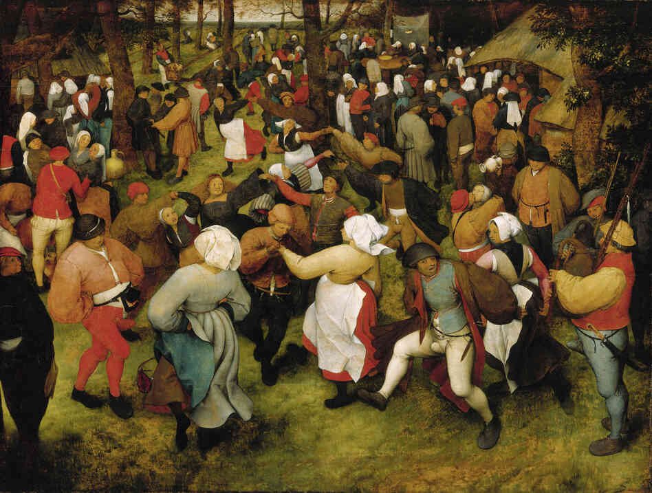 This Bruegel painting received the highest appraisal in the Christie's report, with an upper estimate of $  200 million.The Wedding Dance, Pieter Bruegel the Elder, c. 1566, oil on oak panel.