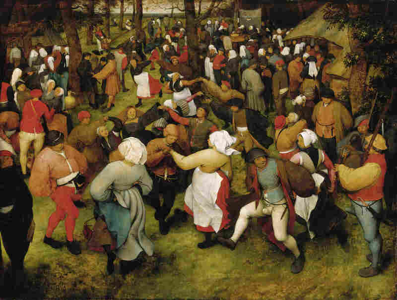 This Bruegel painting received the highest appraisal in the Christie's report, with an upper estimate of $200 million.The Wedding Dance, Pieter Bruegel the Elder, c. 1566, oil on oak panel.