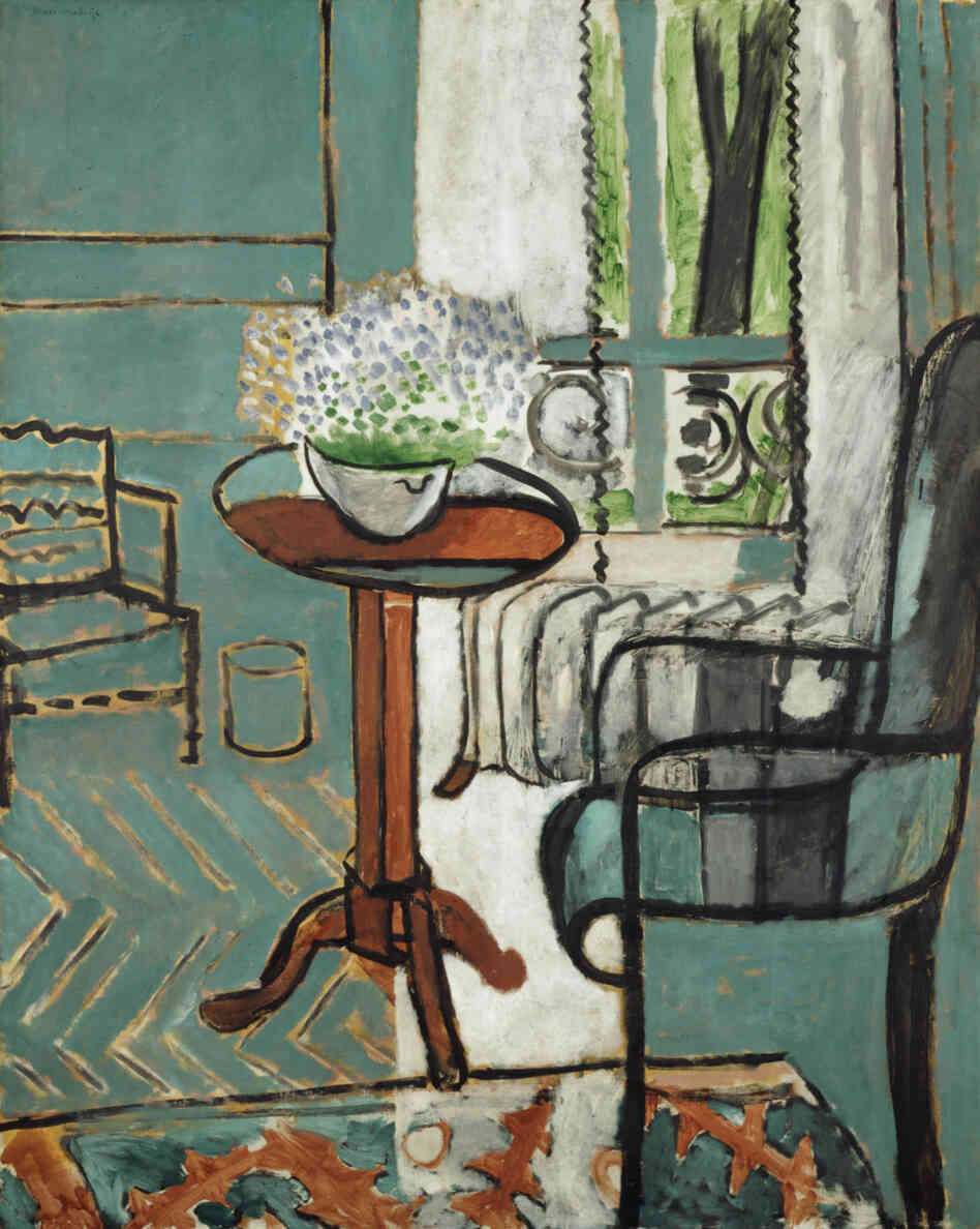 This 1916 Matisse is appraised at $  40-$  80 million.The Window, Henri Matisse, 1916, oil on canvas.
